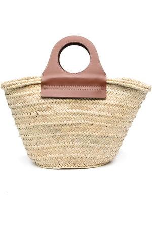 Hereu Woven-straw tote bag