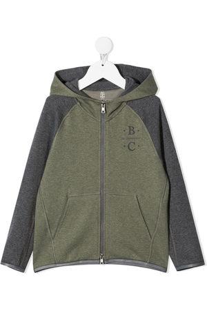 Brunello Cucinelli Boys Hoodies - Logo zipped hoodie