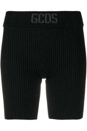 GCDS Women Sports Shorts - Ribbed-knit cycling shorts