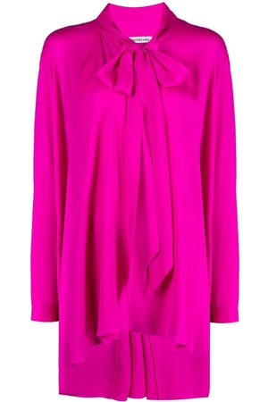 Balenciaga Women Shirts - Tie-neck blouse