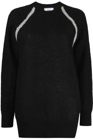 Y-3 Sheer-knit crew-neck sweater