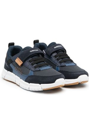 Geox Boys Sneakers - Logo-print touch-strap trainers