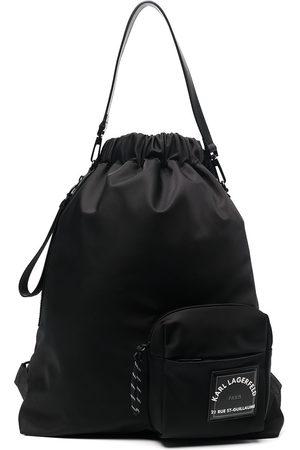 Karl Lagerfeld Men Rucksacks - Rue St-Guillaume drawstring backpack