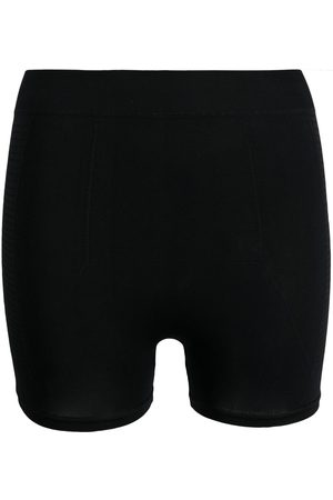 Rick Owens Ribbed-knit high-waist shorts