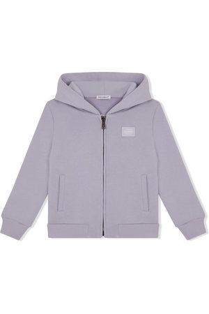 Dolce & Gabbana Boys Hoodies - Logo-patch cotton hoodie