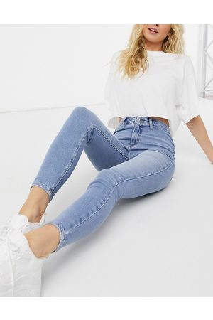 River Island Kaia high rise skinny jeans in light auth