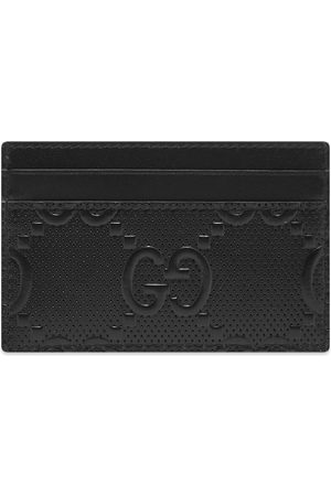Gucci Men Wallets - GG Embossed Card Holder