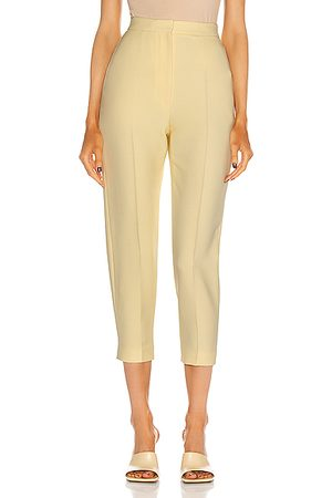 Alexander McQueen High Waist Slim Pant in Honeysuckle