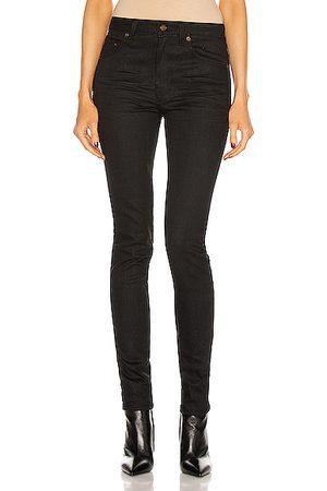 Saint Laurent Medium Waist Skinny Jean in Used