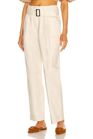 JONATHAN SIMKHAI Andie Trench Pant in Egret