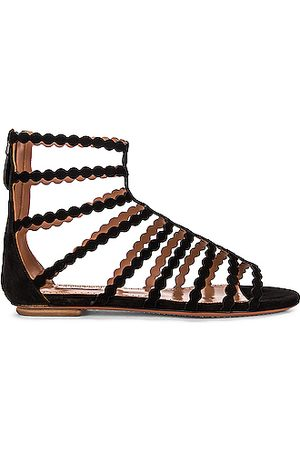 Alaïa Cage Sandals in Noir
