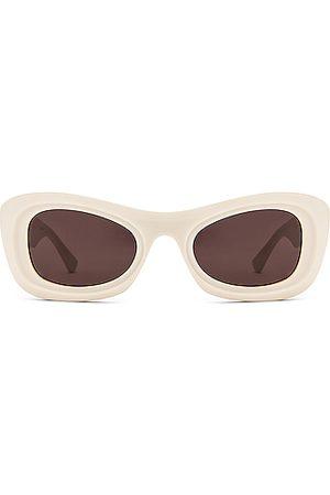 Bottega Veneta Acetate Sunglasses in Ivory