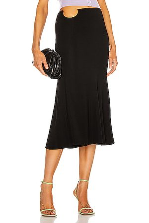 VERSACE Midi Flare Skirt in Nero