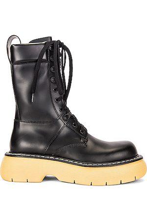 Bottega Veneta Lace Up Boots in & Natural