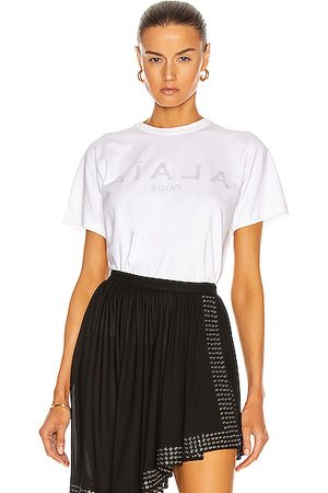 Alaïa Edition 2004 T Shirt with Flower Print in Blanc & Noir