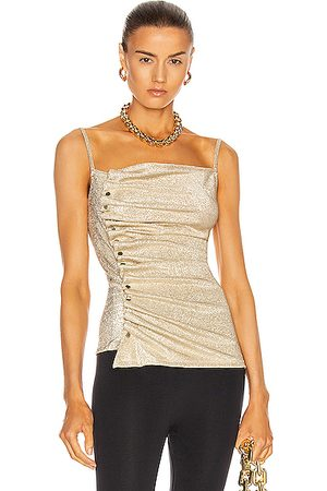 Paco rabanne Button Down Ruched Top in &