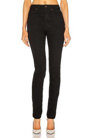 Saint Laurent High Waist Skinny Jean in Worn