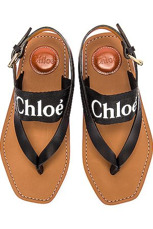 Chloé Women Platform Sandals - Woody Slingback Sandals in