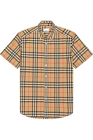 Burberry Caxton Short Sleeve Check Shirt in Archive
