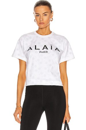 Alaïa Edition 2004 The ALA?A Jersey T Shirt in Blanc & Noir.