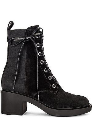 Gianvito Rossi Suede Lace Up Booties in &