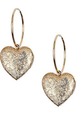 Jennifer Behr Coeur Hoop Earrings in