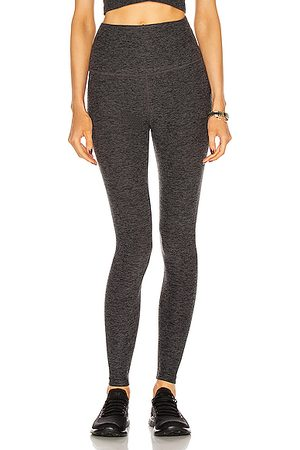 Beyond Yoga Spacedye Caught In The Midi High Waisted Legging in & Charcoal