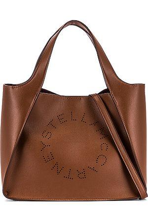 Stella McCartney Logo Crossbody Bag in Cuoio
