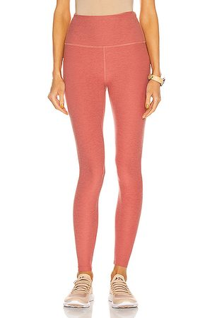 Beyond Yoga Spacedye Caught In The Midi High Waisted Legging in Softest Scarlet