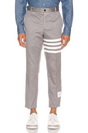 Thom Browne Unconstructed Chino Trouser in Medium Grey