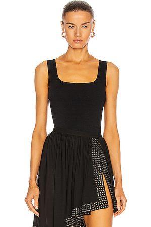 Alaïa Sleeveless Bodysuit in Noir