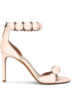 Alaïa Leather Bombe Sandals in Galet