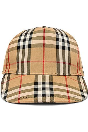 Burberry Heavy Cotton Check Trucker Cap in Archive
