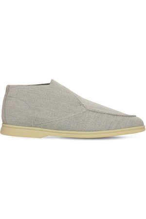 Loro Piana Open Walk Knit Slip-on Desert Shoes
