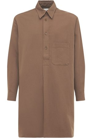 LEMAIRE Men Shirts - Soft Cotton & Linen Liquette Shirt