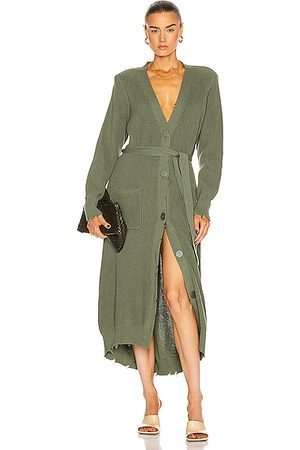 SER.O.YA Women Casual Dresses - Amanda Sweater Dress in Olive