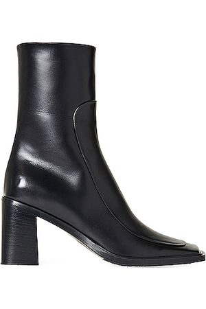The Row Patch Leather Boots in Black