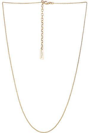 Saint Laurent Thin Gourmette Chain Necklace in Light Gold