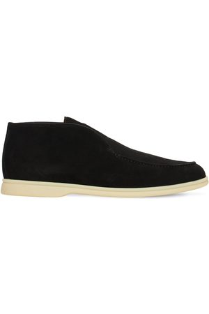 Loro Piana Open Walk Suede Slip-on Desert Shoes