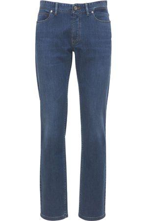 BRIONI Meribel Logo Patch Cotton Denim Jeans