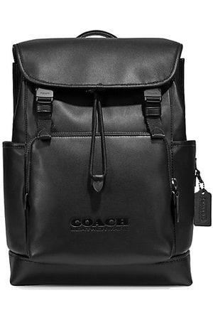 Coach League Leather Flap Backpack