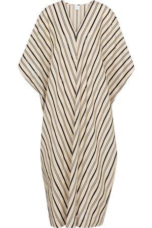 Max Mara Women Tunics - Nebbie striped linen-blend kaftan