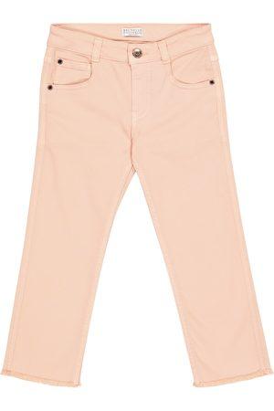 Brunello Cucinelli Girls Skinny - Stretch-cotton skinny jeans
