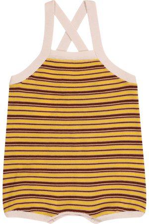 Caramel Rompers - Baby Whaleshark striped wool bodysuit