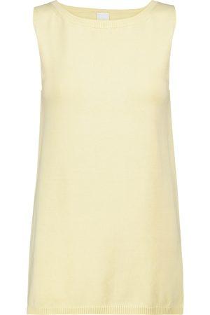 Max Mara Women Tank Tops - Leisure Nastie cotton-blend knit tank top