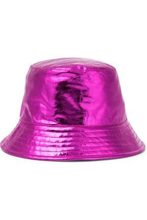 Isabel Marant Women Hats - Haley metallic leather bucket hat