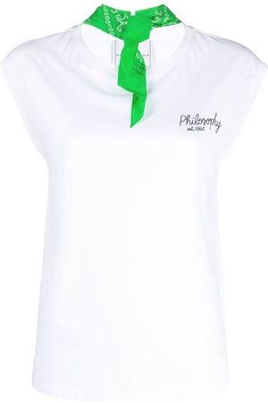 Serafini Bandana-collar cotton T-shirt