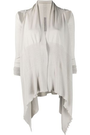 Rick Owens Women Cardigans - Slash detail knitted cardigan