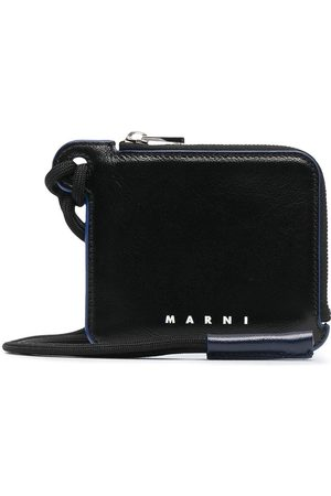 Marni Men Wallets - Leather neck strap wallet