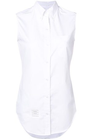 Thom Browne Women Tank Tops - Sleeveless Grosgrain Poplin Shirt